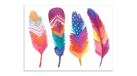 Mini Plumes Petits Tattoos Watercolor