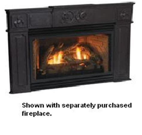 empire traditional black cast iron fireplace insert