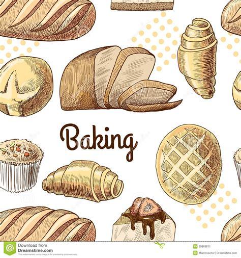 pattern illustrator food baking seamless pattern stock vector image 39869811