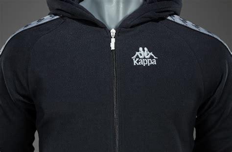 kappa warsus zip hoodie mens clothing black