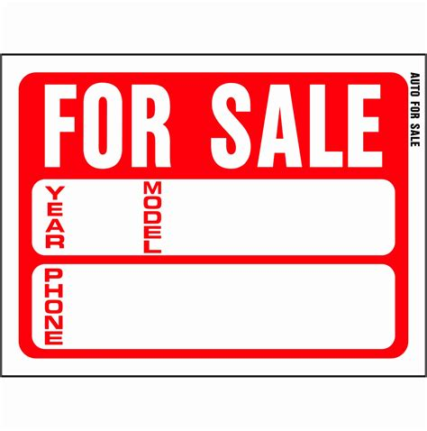 sale sign template 9 printable car for sale sign template aytey templatesz234