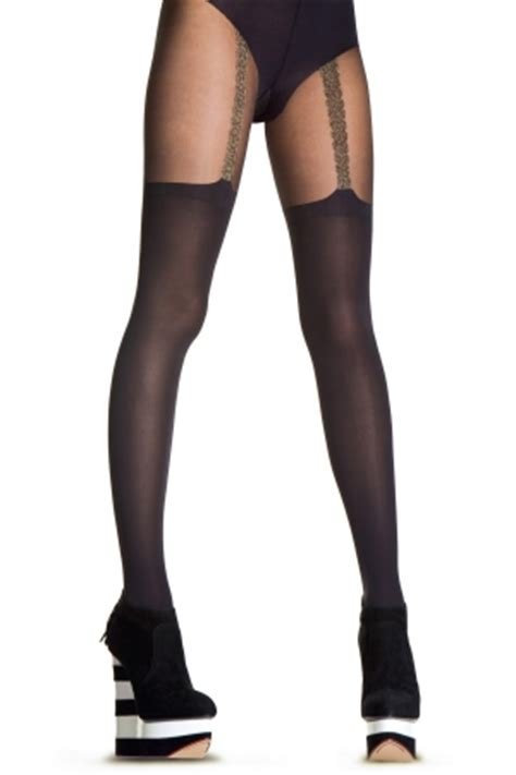 What To Wear With A Pretty Polly Catsuit by House Of For Pretty Polly Chain Suspender Tights