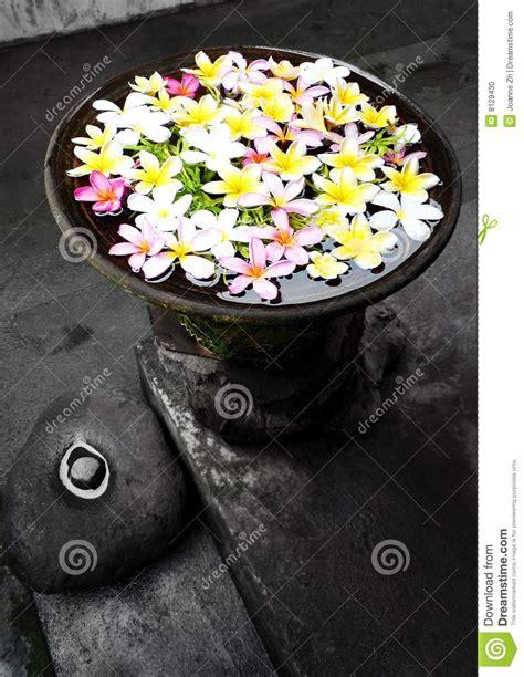 Zen Home Decor Garden Ornament With Flowers Bali Stock Photo Image