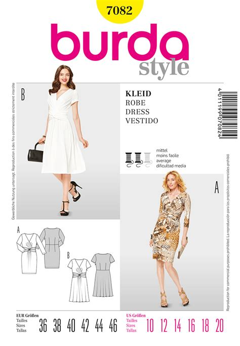 skirt pattern burda burda 7082 misses dress