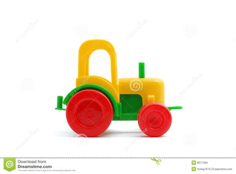 small toys small tractor isolated on white stock images image 8677484