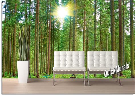peel and stick wall mural morning forest peel and stick wall mural