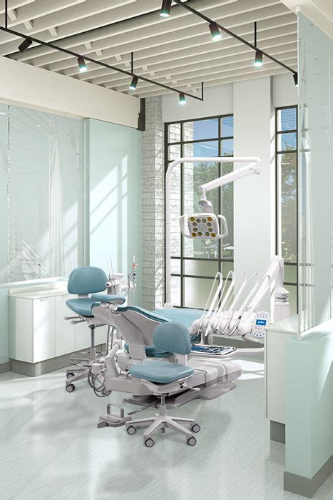 Adec Dental Chair Upholstery - a dec 500 dental chair with cyan sewn upholstery design