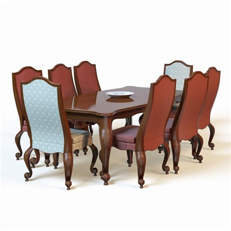 Dining Table Models 3d Dining Table Model
