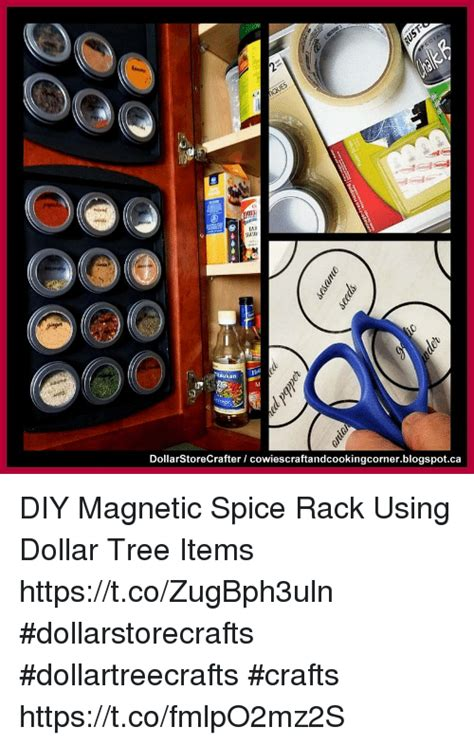 Make A Diy Spice Rack With Dollar General 187 Dollar Store Sta Tsukan Dollarstorecrafter Cowiescraftandcookingcornerblogspotca Diy Magnetic Spice Rack