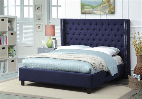 Navy Bed by Ashton Navy Size Bed Ashton Meridian Furniture