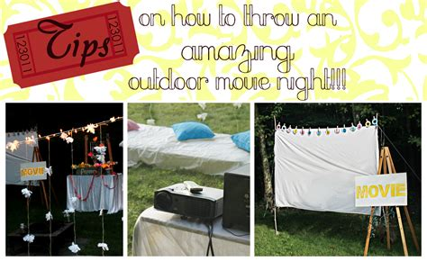 backyard movie night ideas tips on how to throw an awesome outdoor movie night we