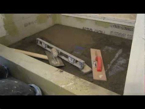 Shower Pan Mortar Mix Ratio by How To Install Mud In A Shower Floor Free And