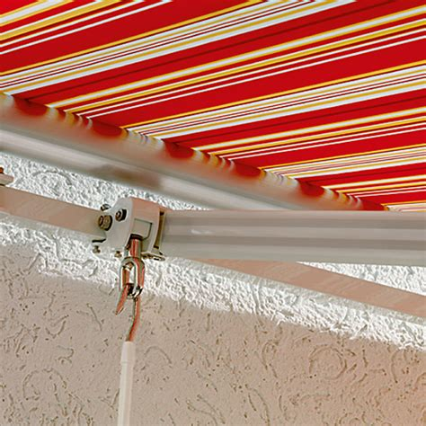 sunfun markise sunfun gelenkarmmarkise rot gelb breite 4 m ausfall 2