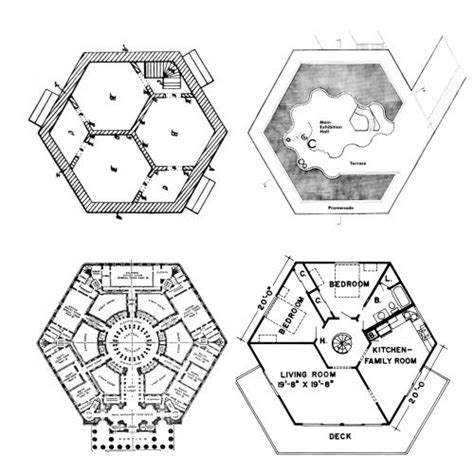 Hexagon Building Plans by Hexagon Plans From Left To Right Harriet Irwin Hexagonal