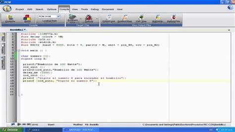 tutorial video c video tutorial programar en pic c compiler no 6 control