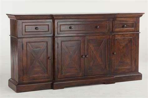 heavy solid wood 78 quot dining room credenza or sideboard