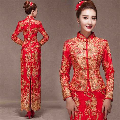 aliexpress china aliexpress com buy chinese wedding dresses red lace