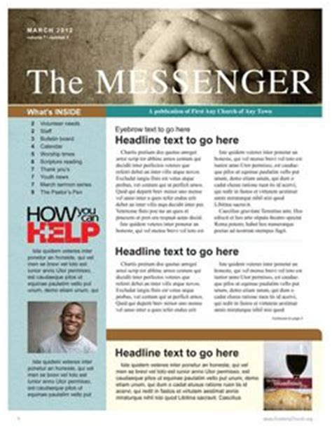 Free Church Newsletter Template Communication Resources Online Store Newsletters Free News Bulletin Templates