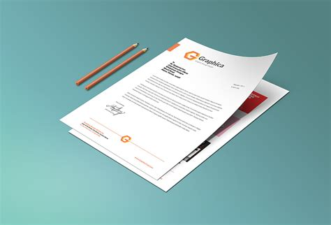 business letter mockup letterhead and paper portfolio mockup psd graphicsfuel