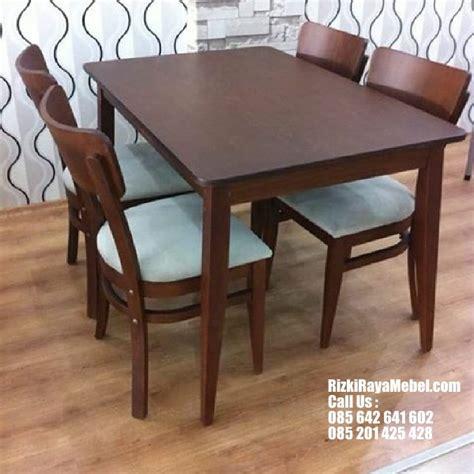 meja kursi cafe minimalis kayu rizki raya mebel