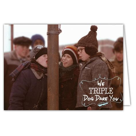 triple dog dare christmas photo cards paperstyle