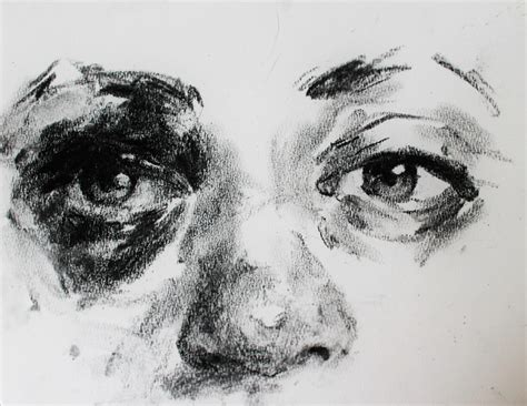 Drawing With Charcoal by Charcoal Sketch Of A Friend S Eye After A Seizure