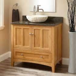 Beau Lavabo D Angle Avec Meuble #3: meuble-salle-bain-bambou-granite-vasque-pierre-blanche.jpg