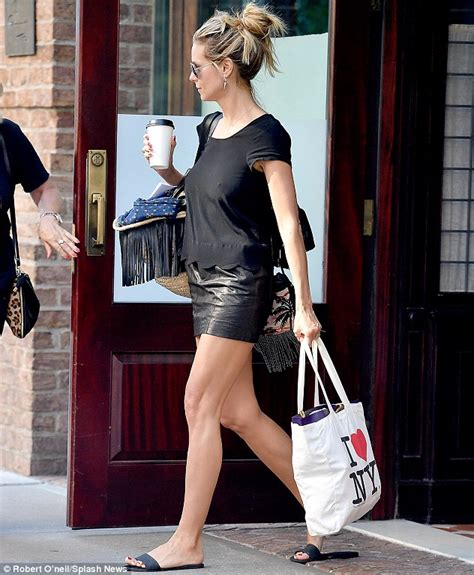 Heels Simple Glossy All Series heidi klum shows figure in a glossy miniskirt in new york daily mail