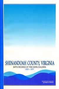 Shenandoah County Records Shenandoah County Historical Society