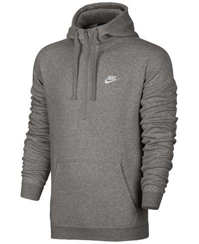 Jaket Hoodie Sweater Zipper Nike nike s half zip hoodie hoodies sweatshirts macy s