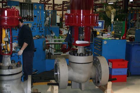 bench set of control valve teco anlagenvertriebs gmbh