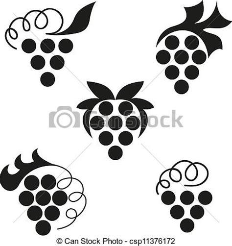 imagenes de uvas en blanco y negro ilustra 231 227 o vetorial de uvas pretas emblemas de uvas