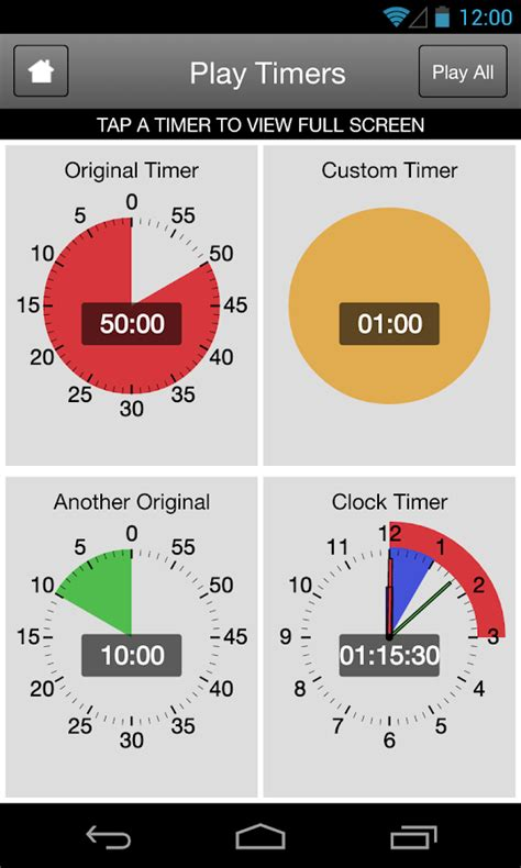Android Timer by Time Timer For Android Android Apps On Play