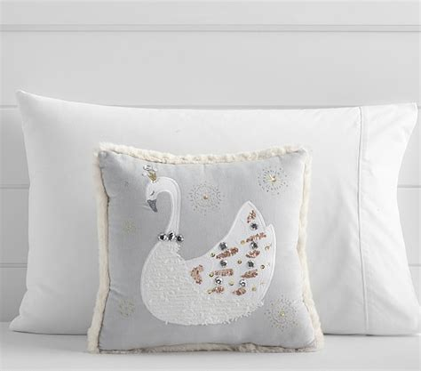Jeweled Pillows by Jeweled Swan Pillow Pottery Barn