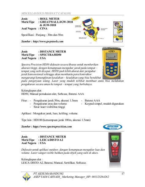 Jual Flagging 100m Pita Survey brosur dan katalog jual alat survey pemetaan asep yadi