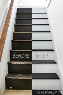 8 Year Old Room Decor Black And White Painted Stairs Maison De Pax