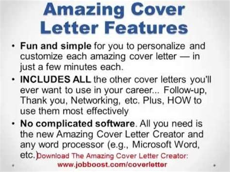 Amazing Cover Letter Creator Software Amazing Cover Letter Creator Link Bonus