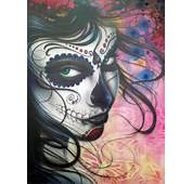 Dia De Los Muertos Chica Painting By Mike Royal