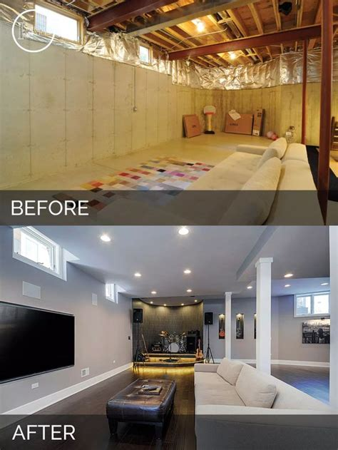 sid nisha s basement before after