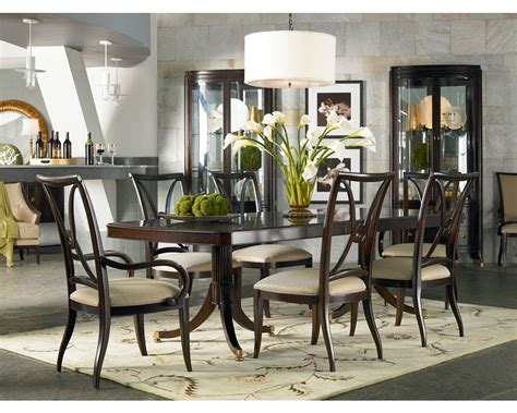 thomasville furniture dining room double pedestal dining table dining room furniture