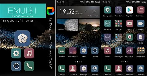 huawei p8 themes emui 3 1 singularity emui 3 1 theme for 360 launcher by duophased