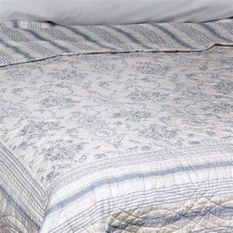 toile de jouy bed linen vienna toile de jouy 100 cotton quilted bedspread white