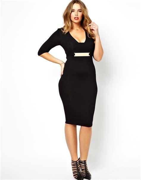 asos curve asos curve exclusive bodycon midi dress with