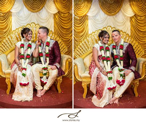 Hindu Temple Wedding: Chris & Anusha   Malaysia Wedding   Family Portrait Photographer