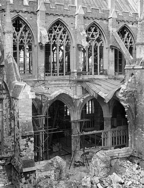 Bomb damage, Exeter Cathedral, Exeter, Devon | Educational