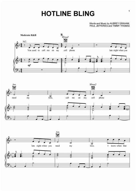 how to buy sheets hotline bling piano sheet music onlinepianist