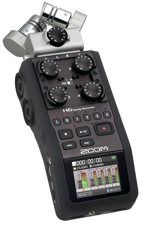 best handy recorder zoom h6 handy recorder gearclubdirect