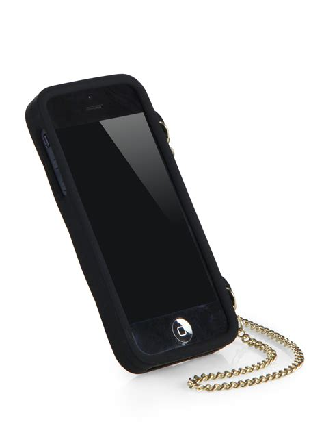 Iphone 55s Wallet moschino chain logo iphone 55s in black lyst