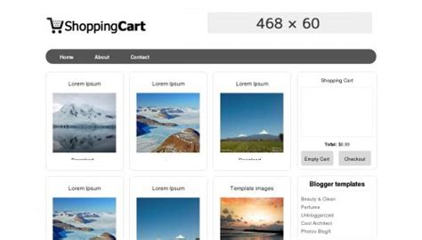 best free blogger shopping cart design freebies