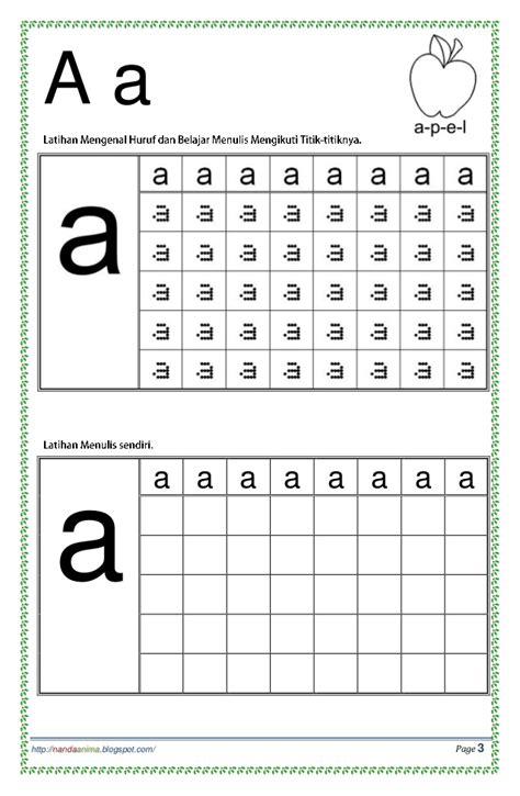 Belajar Menulis Huruf Besar By belajar mengenal dan menulis huruf abc